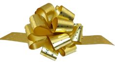 Christmas Gift Wrap Pull Bows - 5' Wide, Set of 6, Gold Stars * Want to know more, click on the image.