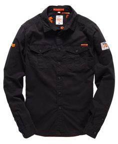 Mens - Rookie Shirt in Black | Superdry