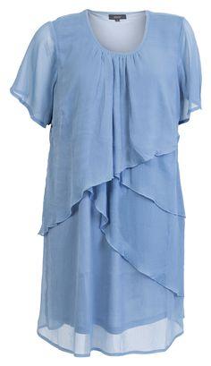 Lækre Blå chiffon kjole i lag på lag Zhenzi Modetøj til Damer i behagelige materialer