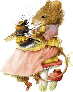 Marjolein Bastin - Vera Mouse I just had to pin this cute pic, and I love Marjorie's art. Marjolein Bastin, Nature Artists, Dibujos Cute, Bee Art, Cute Mouse, Beatrix Potter, Children's Book Illustration, Whimsical Art, Illustrators