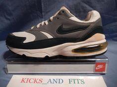 VTG 1998 Nike Air Max Burst 604130 sz 8 Rare Colorway SC Leather Green OG