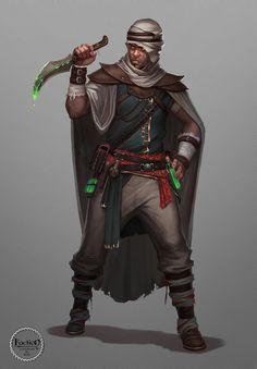 The Black Hand Assassin, Aleksey Bayura on ArtStation at https://www.artstation.com/artwork/the-black-hand-assassin