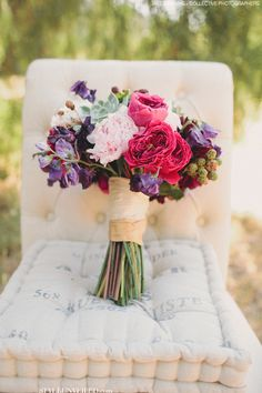 Summery Bridal Bouquet with Berries and Succulents / Jake and Necia Odening of The Collective Photographers / Panacea Event Floral Design / via StyleUnveiled.com