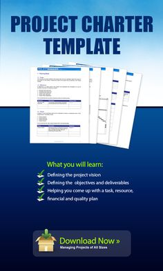 Download this Project Charter template to define the scope of your projects clearly. It helps you do this by defining the project vision, objectives and deliverables and then helping you come up with a task, resource, financial and quality plan so that you can clearly plan the workload ahead.