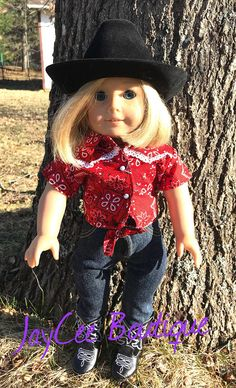 """White Cowgirl Boots Western Texas fits 18/"""" American Girl Dolls"""