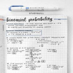 """studyquill: """"i will PROBABLY pass my probability test :) """" School Organization Notes, School Notes, Bullet Journal Notes, Bullet Journal Ideas Pages, Pretty Notes, Good Notes, How I Take Notes, Math Notes, Revision Notes"""