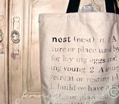 Make a cute NEST tote bag printable inlcuded