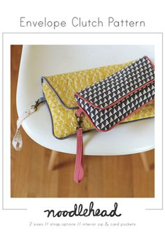Envelope Clutch by Noodlehead Pattern Preview 1 | Indiesew.com