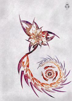 Scorpio flower by Simon Cogen, via Flickr.  Very interesting take on the Scorpio tattoo!