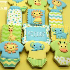 Jungle-themed cookies by Cindy's Cozy Kitchen
