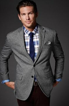Love the plaid under the jacket.