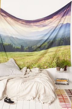 Plum & Bow Purple Mountain Tapestry - Urban Outfitters