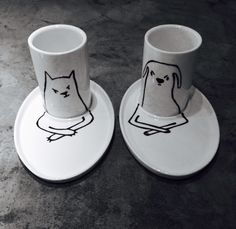 Coffeemugs cats and dogs