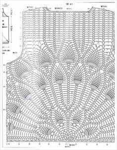 Captivating Crochet a Bodycon Dress Top Ideas. Dazzling Crochet a Bodycon Dress Top Ideas. Crochet Motifs, Crochet Diagram, Filet Crochet, Crochet Stitches, Crochet Patterns, Crochet Tank Tops, Crochet Shirt, Crochet Jacket, Knit Crochet