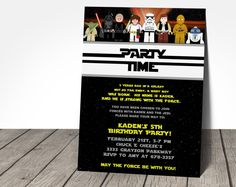 Star Wars Party Time Invitation