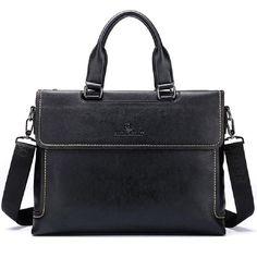 Bag Leather Tote Handbag Briefcase Portfolio Men's