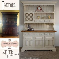 old hutch new life, painted furniture