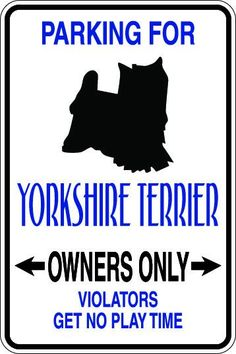 Yorkshire Terrier Owners Only Sublimated Aluminum Magnet