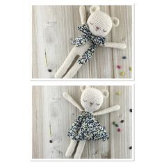 Baby TEDDY made to order crochet teddy crochet by Unepelotedelaine