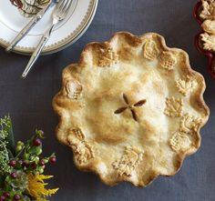 Apple-Ginger-Cranberry Pie with Vanilla Ice Cream