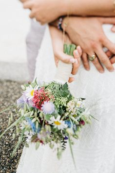 wildflower bouquet. Fun infused Boho Wedding by david & kathrin photography and film as seen on Wedding Blog Humming Heartstrings. Read more: http://www.hummingheartstrings.de/?p=17908