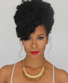 24 Wedding Day Hair Up-Do�s for Naturals Natural hairstyles for black women http://www.shorthaircutsforblackwomen.com/natural-hair-breakage-treatment/