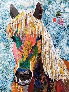 Karla Schuster is a Georgia based collage artist who creates amazing artwork using found paper, ha...