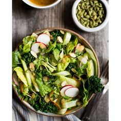 After eating my way through Portland last weekend (Korean fried chicken, holla!), I felt like I needed a quick cleanse. So I made a BIG salad (duh). I'm sharing this Spring Salad with Lemongrass Vinaigrette up on the blog today. Snag the recipe link in the profile, or http://healthynibblesandbits.com/spring-salad-lemongrass-vinaigrette/