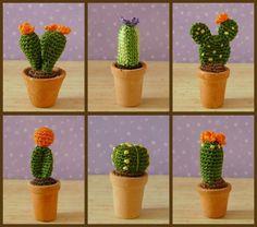 Crochet Miniature Amigurumi Cactus Plants pattern