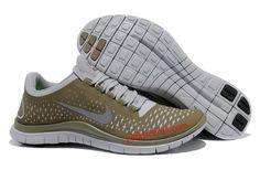 Light Bone Reflective Silver Iguana Nike Free 3.0 V4 Men's Running Shoes