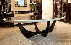 Dining Tables - SCULPTURAL OVAL TABLE ART 1395