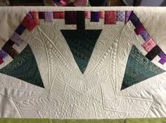 Triangle Trees Quilted tree skirt