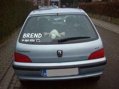 Klantenfoto baby aan boord sticker van auto-stickers.be