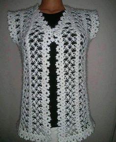 116 Grain Mesh Damenweste Modelle All-Beautiful 41 # Damen & # Kleidung Crochet Bolero Pattern, Crochet Jacket, Crochet Cardigan, Knit Crochet, Crochet Patterns, Diy Crafts Knitting, Diy Crafts Crochet, Knit Baby Dress, Herringbone Stitch