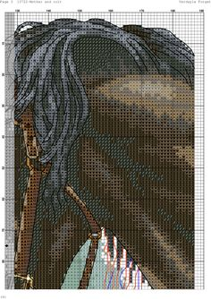 Cross stitch horse and foal  6/8*#*