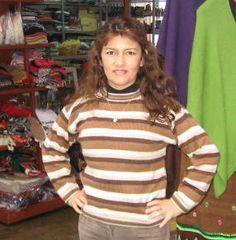Brauner Ringel #Pullover aus #Alpakawolle