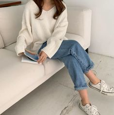 Shop for Women's Clothing - FREE Worldwide Shipping available! Korean Casual Outfits, Korean Outfit Street Styles, Cute Casual Outfits, Casual Clothes, Korean Spring Outfits, Korean Street, Mom Outfits, Casual Shorts, Minimal Outfit
