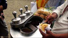 "Mamang Sorbetero aka ""dirty ice cream"" (street food) in the Philippines"