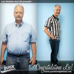 """Congratulations to Les Perkins from Weston, Florida for losing 50 pounds on the Quick Weight Loss Centers program!   """"I was surprised that on the Quick Weight Loss Centers program I was steadily losing weight! I liked that I did not have to starve to lose weight and was able to eat good food. Now that I have reached my goal, I have more energy, my blood pressure has gone down, and my friends have given me the nickname 'Skinny Les!'"""" -Les.   #qwlc #weightloss"""