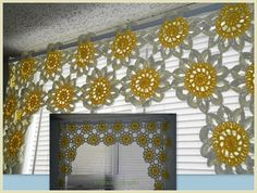 Inspiration...Crochet Curtain.