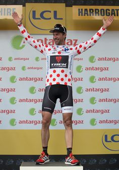 Le Tour de France 2014 - Stage One - Jens Voigt in the polka dot jersey!!!
