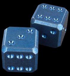 Flytanium Anodized Titanium Dice Set