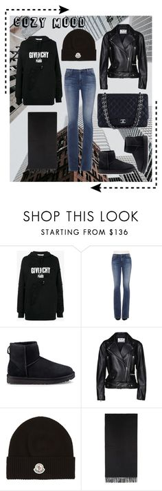 """""""Untitled #16"""" by kajsasjostrom on Polyvore featuring Givenchy, Joe's, UGG, Acne Studios, Moncler and Chanel"""