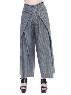 1980s Vintage Jean Paul Gaultier Grey Pinstriped by MORPHEWCONCEPT