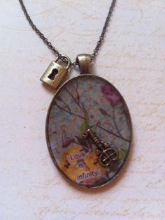 Love is InfinityLarge Oval Brass Bezel with by courtneyleecox, $25.00