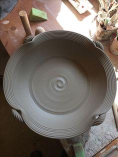 """Bill van Gilder """"18 platters... #PotteryClasses"""