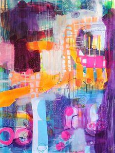 Purple painting by Mette Lindberg www.mettesmaleri.dk: