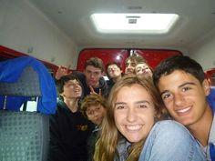 De camino en el bus