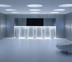 Gallery All-In-One Wall, washbasins for public areas _ by Alape _