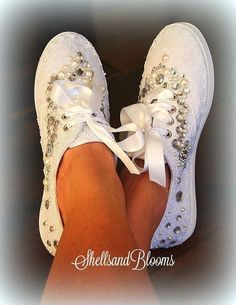 Wedding Bridal Flat Shoes chic white lace or by ShellsandBlooms Hochzeit Braut flache Schuhe s Diy Wedding Shoes, Wedding Sneakers, Lace Sneakers, Bridal Flats, Lace Flats, Bride Shoes, Vintage Shoes, Me Too Shoes